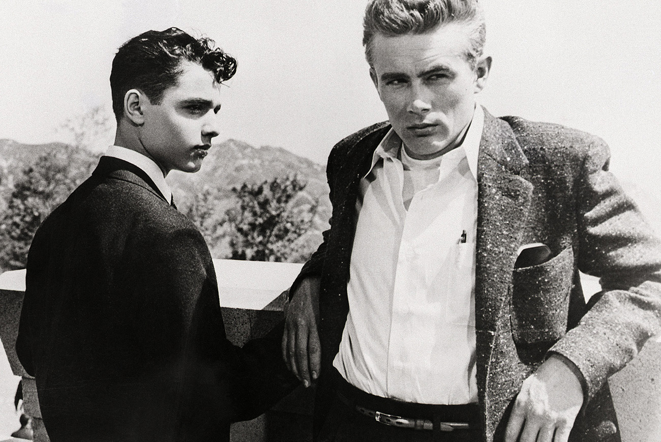 Sal Mineo as John 'Plato' Crawford and James Dean as Jim Stark in the 1955 movie Rebel Without a Cause, directed by Nicholas Ray. --- Image by © Bettmann/CORBIS
